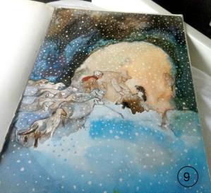 black sheep shepherd cave snow watercolor landscape_SitaJucker