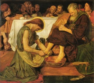 Jesus-washing-feet_Ford Madox Brown