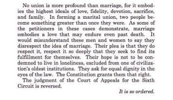 excerpt from Supreme Court ruling on marriage equality