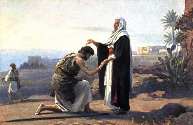 annointing king saul