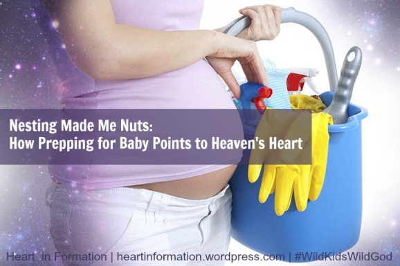 Pregnant -Cleaning-Nesting -Baby Preparation _Nesting Made Me Nuts-Prepping for Baby Points to Heavens Heart_Heart in Formation
