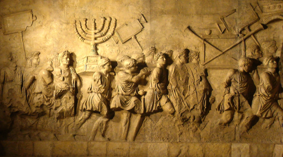 arch_of_titus_menorah-israel-exile-to-babylon
