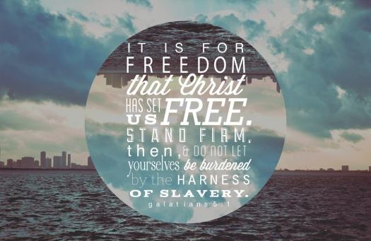 For Freedom Christ made us Free - Galatians 5_Stefanie Keeler-Flickr