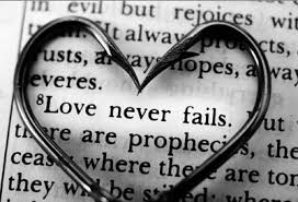 Love never fails verse