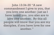 What-Is-The-Greatest-Commandment- love one another- by this the world will know you are mine