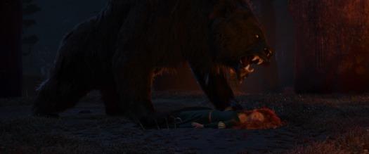 Brave-Movie - Merida attacked by Bear Mordu