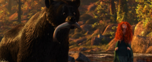 Brave Movie - Mom Bear catching fish
