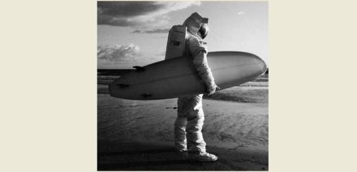 Astronaut Surfing